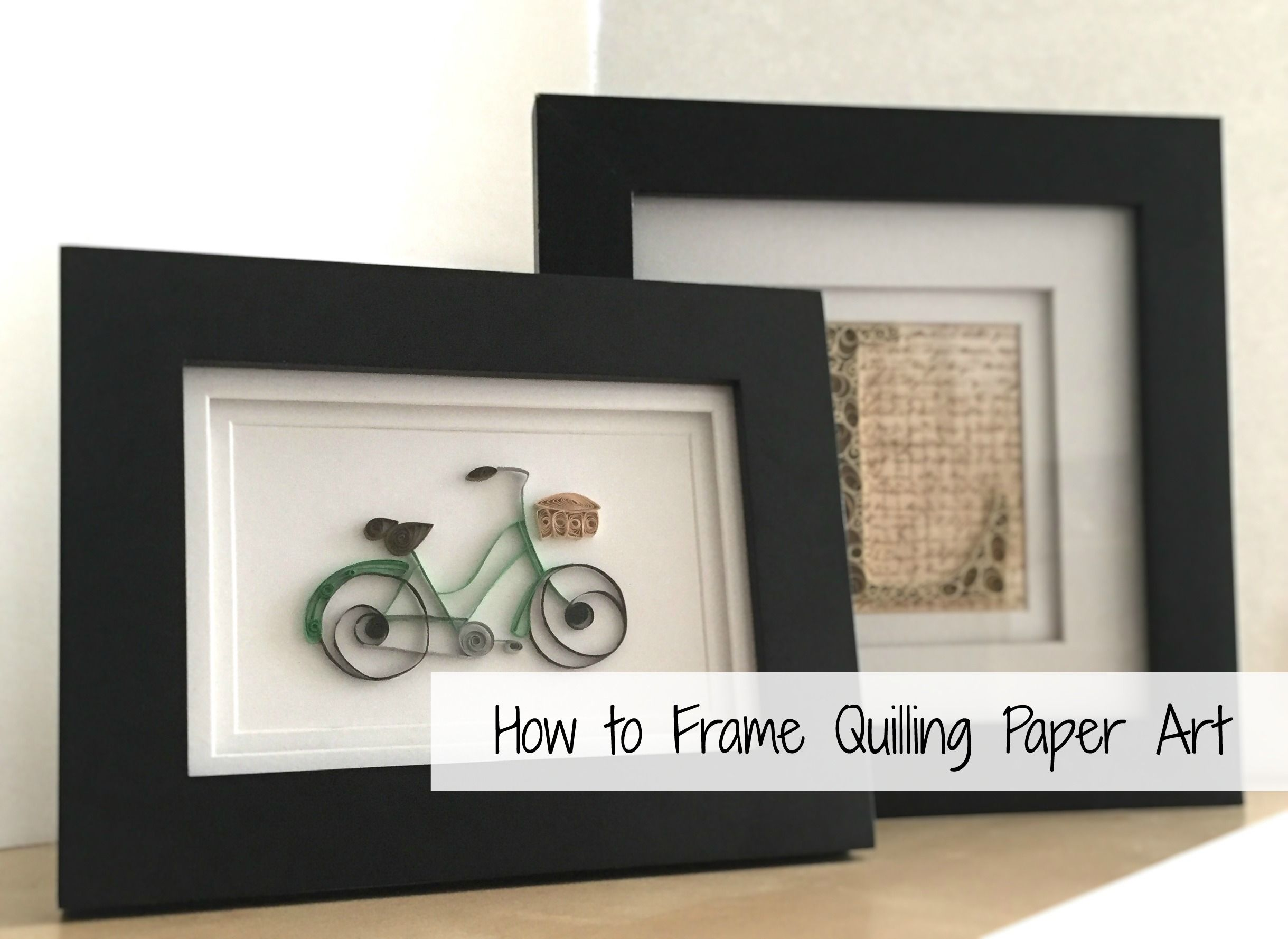 How To Frame Quilling Paper Art Photo Frames