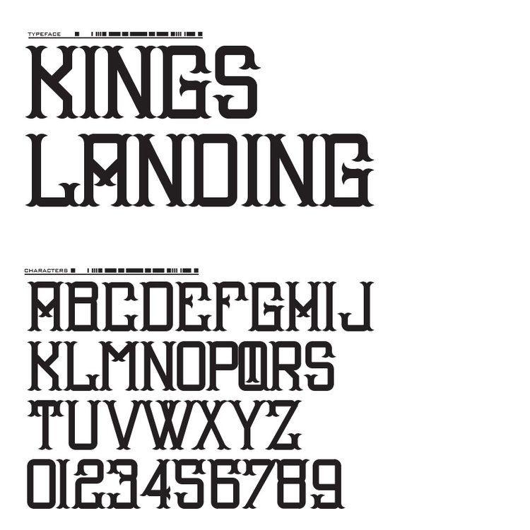 Kings Landing Lettering Alphabet Lettering Design Lettering Fonts