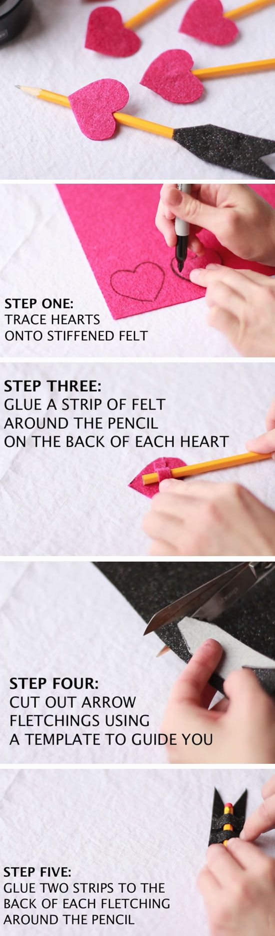 Heart Arrow Pencils | DIY Valentines Crafts for Kids to Make | Easy Valentines Day Activities for Classroom
