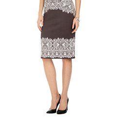 Scuba Pencil Skirt Black/Light Pink - Sami & Dani XL