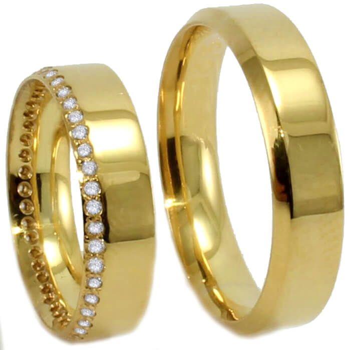 9cdb5f6c668 Aliança de noivado e casamento 18k Sapucaia do Sul