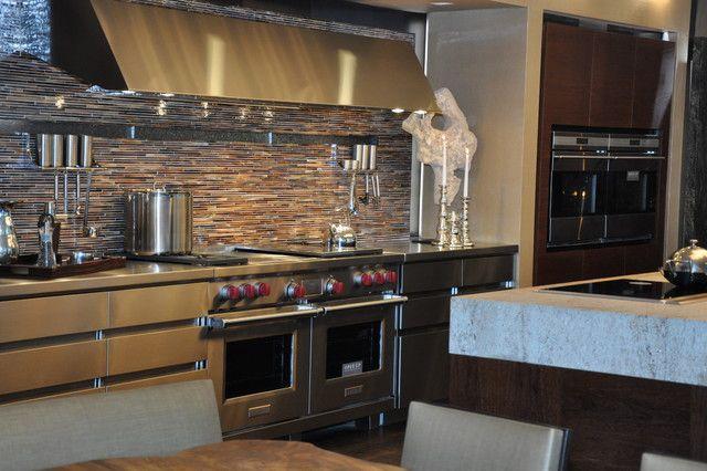 Wolf double door range sub zero and wolf dream kitchens for Dream kitchen appliances