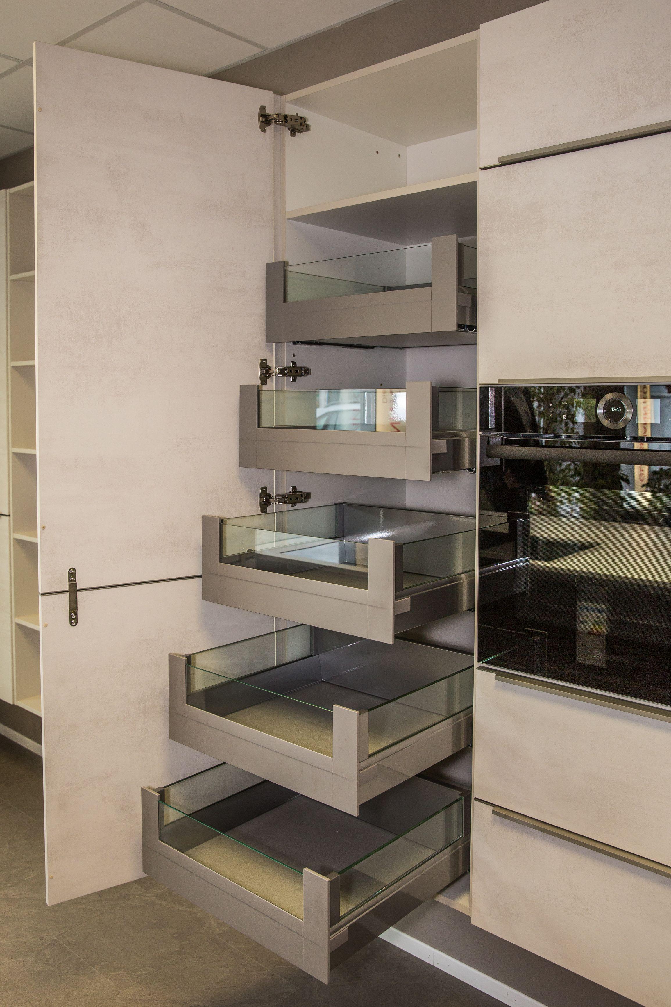 Vorratsschrank mit Innenauszügen #kücheideeneinrichtung Maximaler