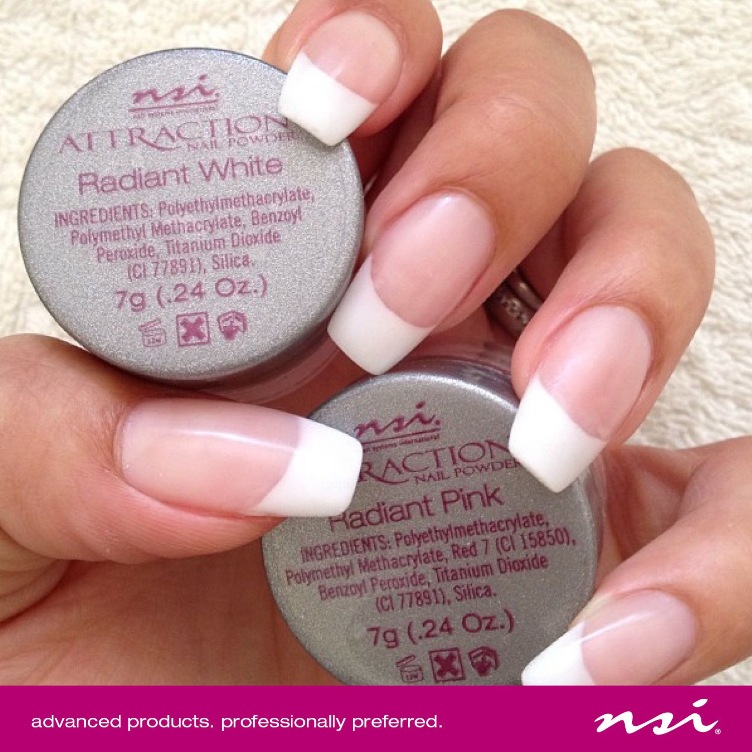 Acrylic Nail Systems: #NSI Attraction Powder Is Part Of Our Attraction Acrylic