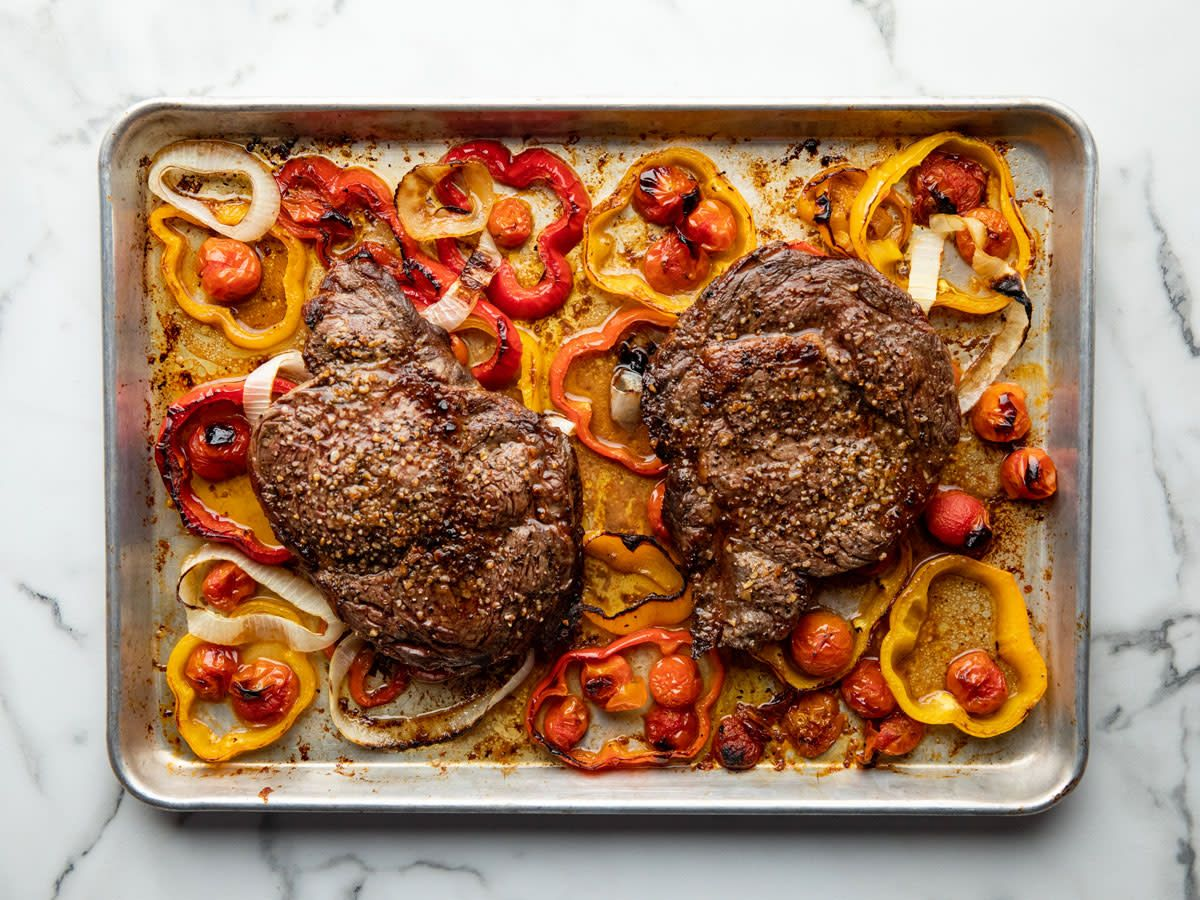 Steak Sheet Pan Supper