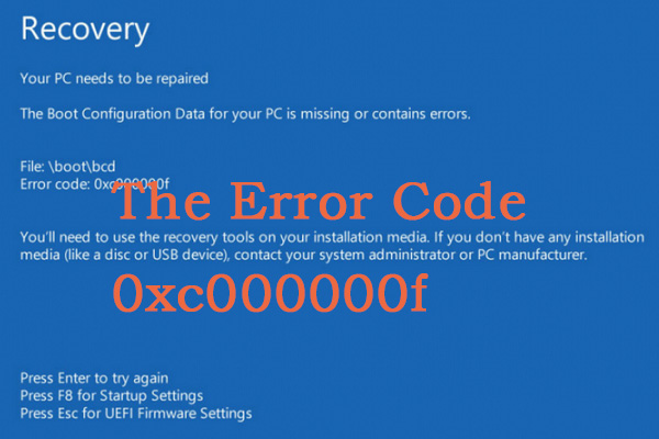 How To Fix 0xc000000f Error On Different Windows System