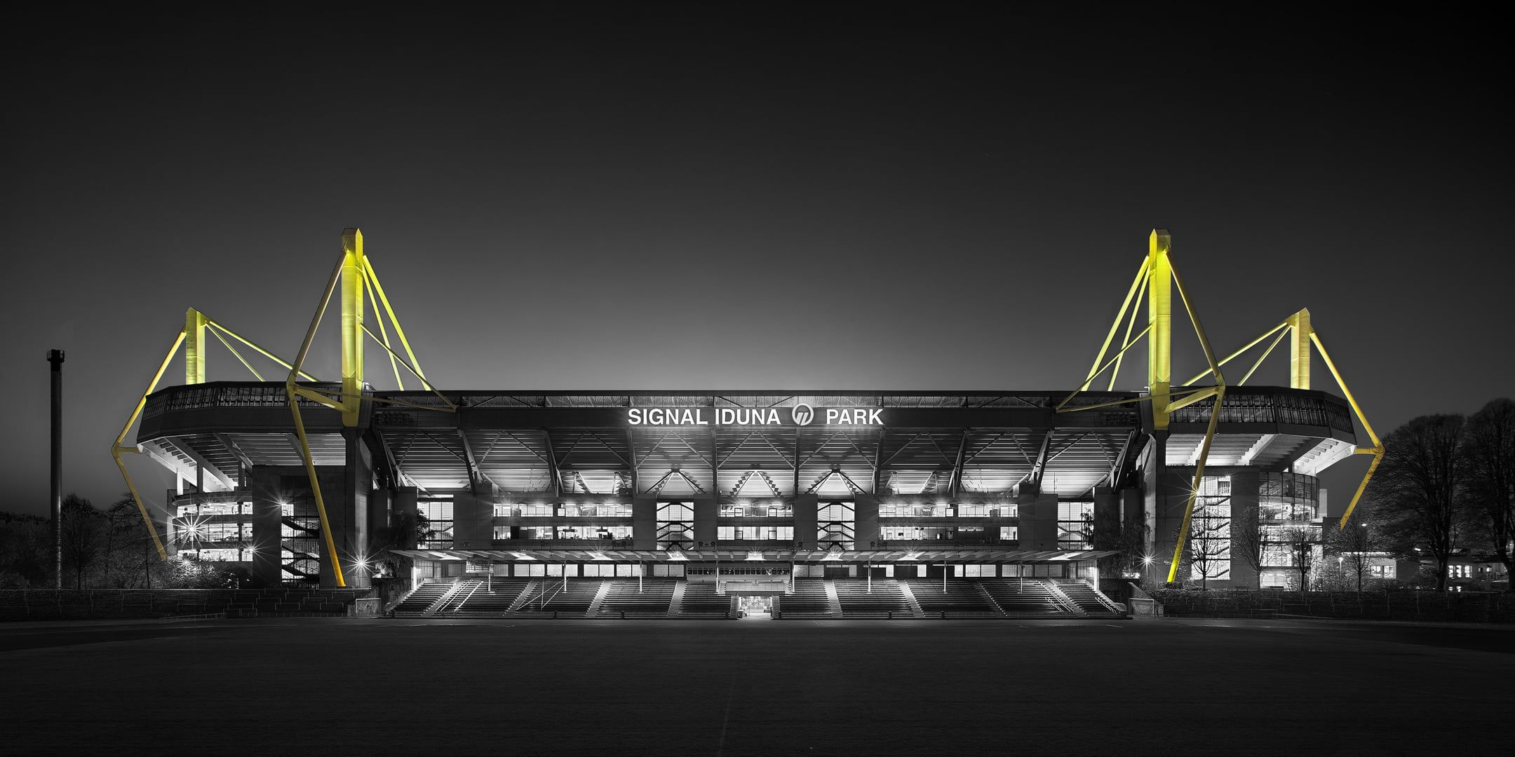 Black And Yellow Industrial Building Sport Football Dortmund Signal Iduna Park Bvb Borussia 1080p W Dortmund Borussia Dortmund Wallpaper Football Stadiums