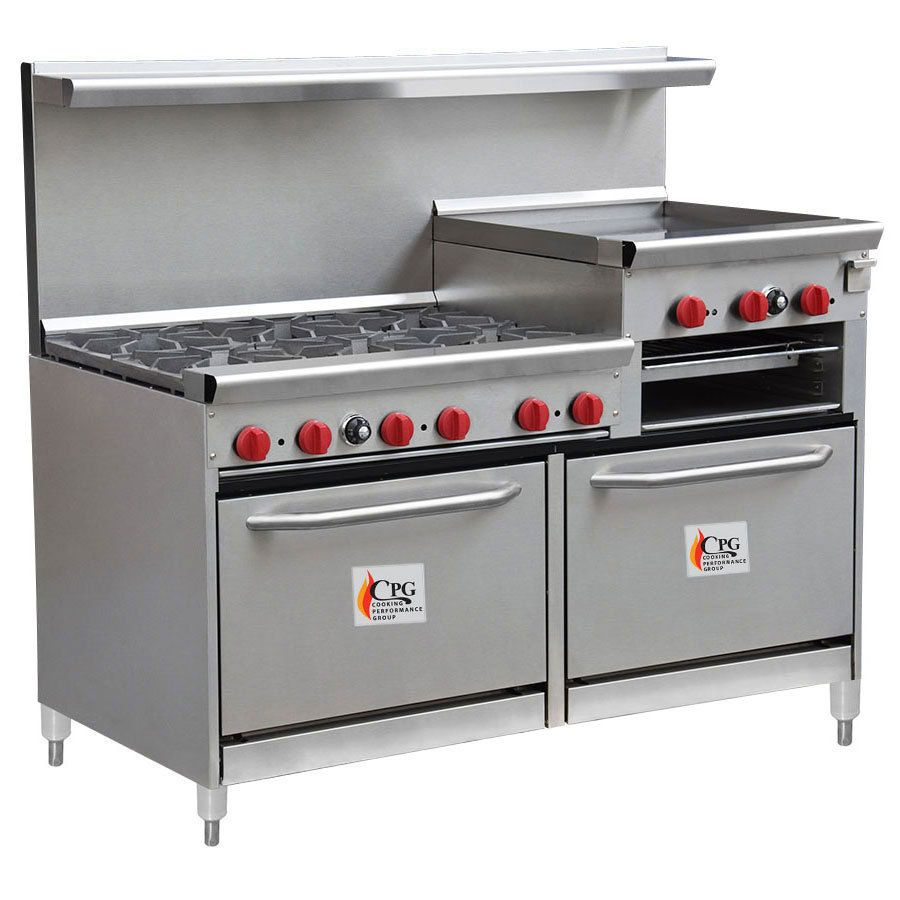 d3a4170f761 Cooking Performance Group 60-CPGV-6B-24RG-S26 6 Burner Gas Range with 24