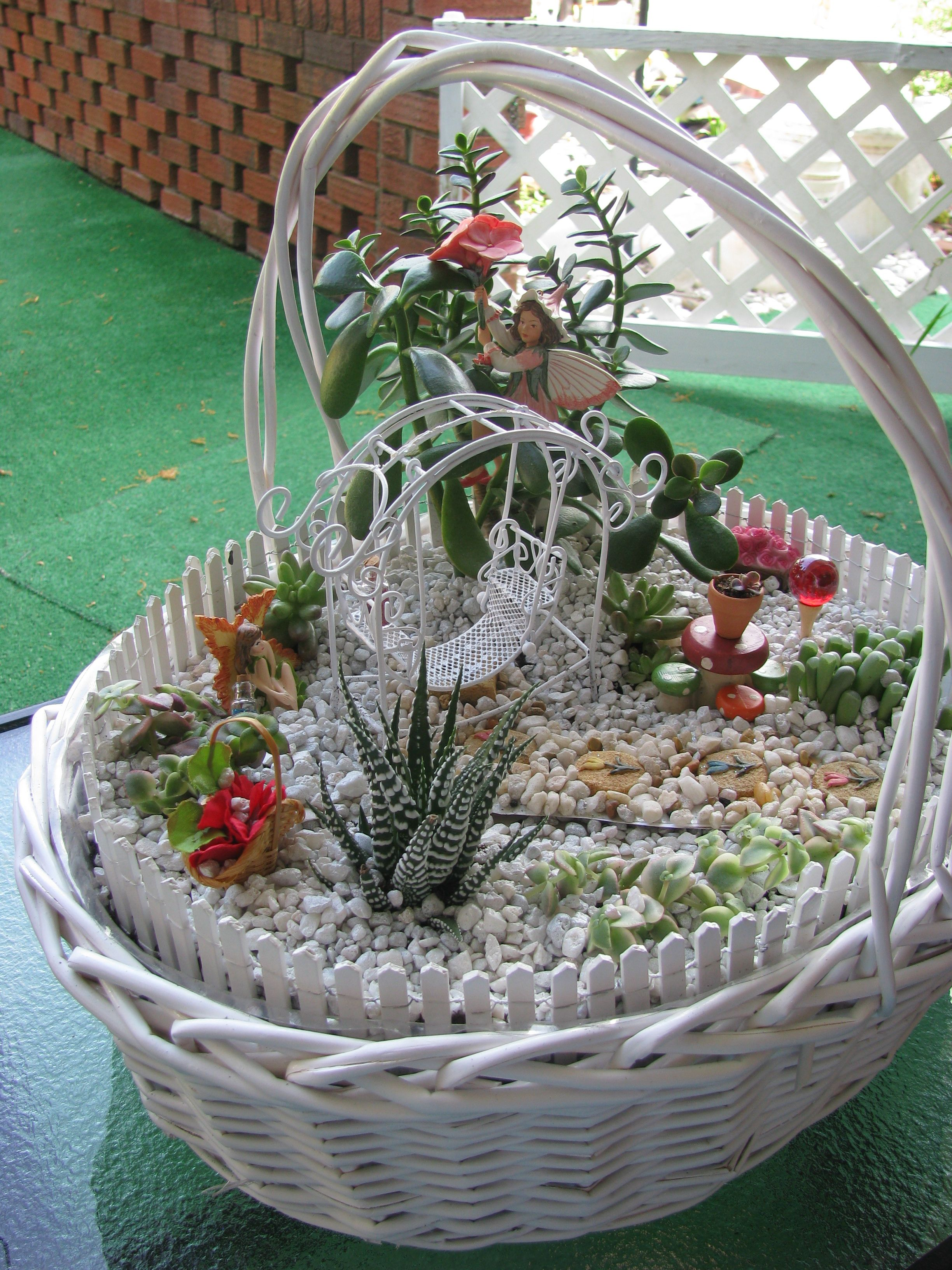 Gnome In Garden: My MiNiaTuRe SuCCuLENT FAiRY GaRDeN