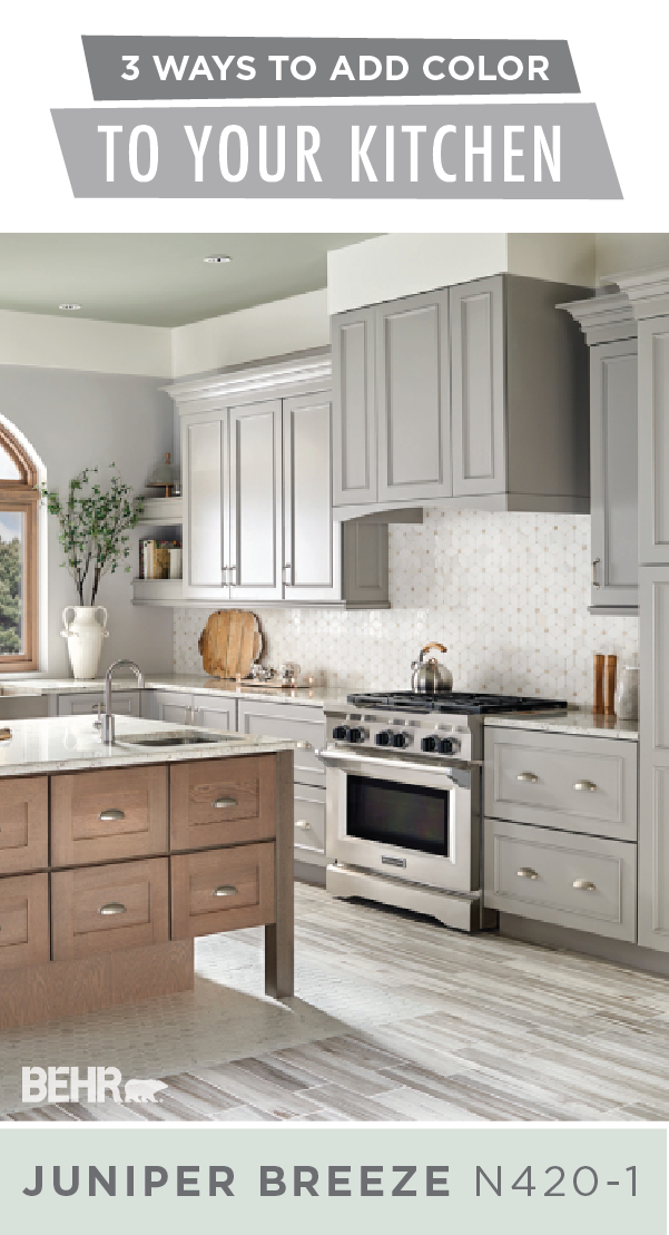 Learn About The 3 Ways To Add Color To Your Kitchen Colorfully Behr Kitchen Remodel Kitchen Colors Kitchen