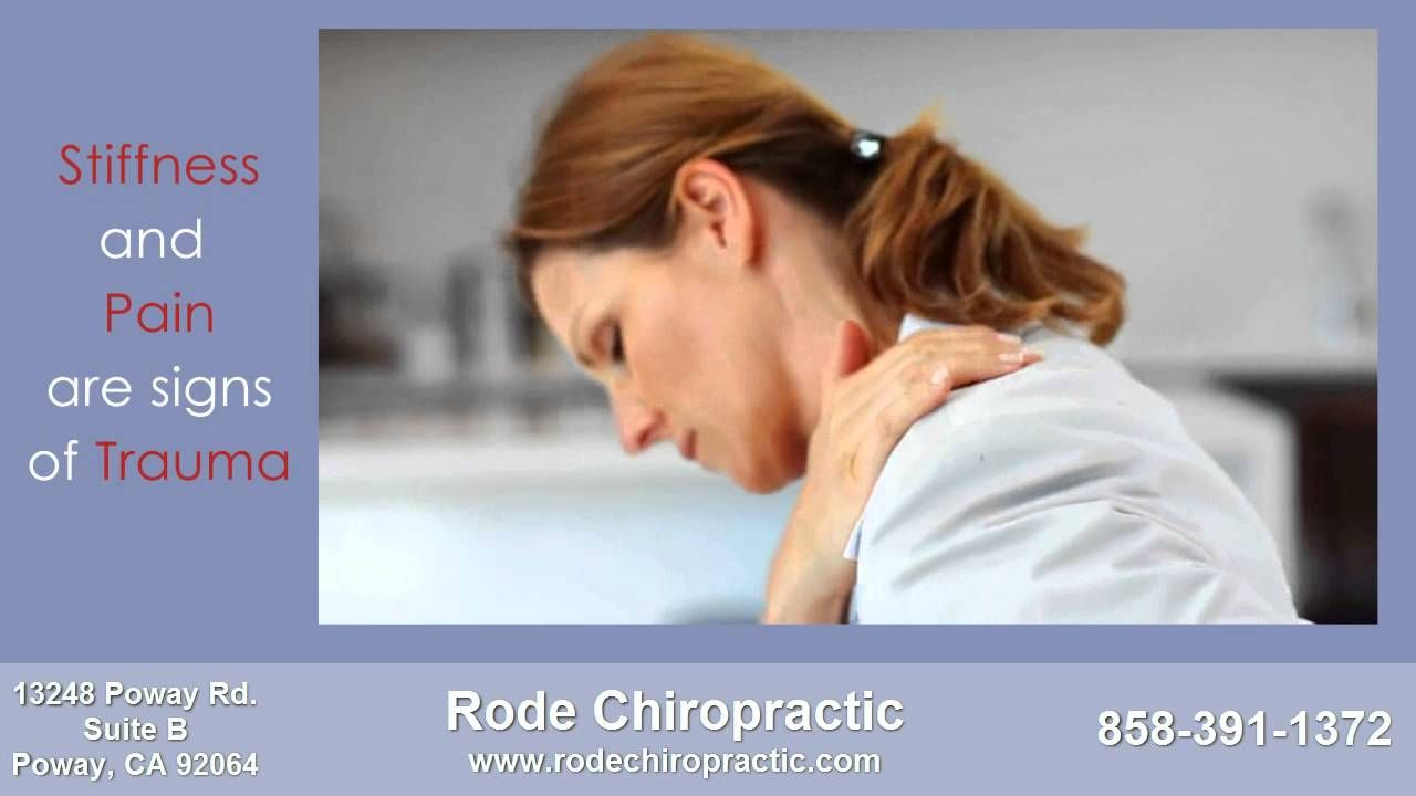 Poway Chiropractor Dr. Rode can help people with recent