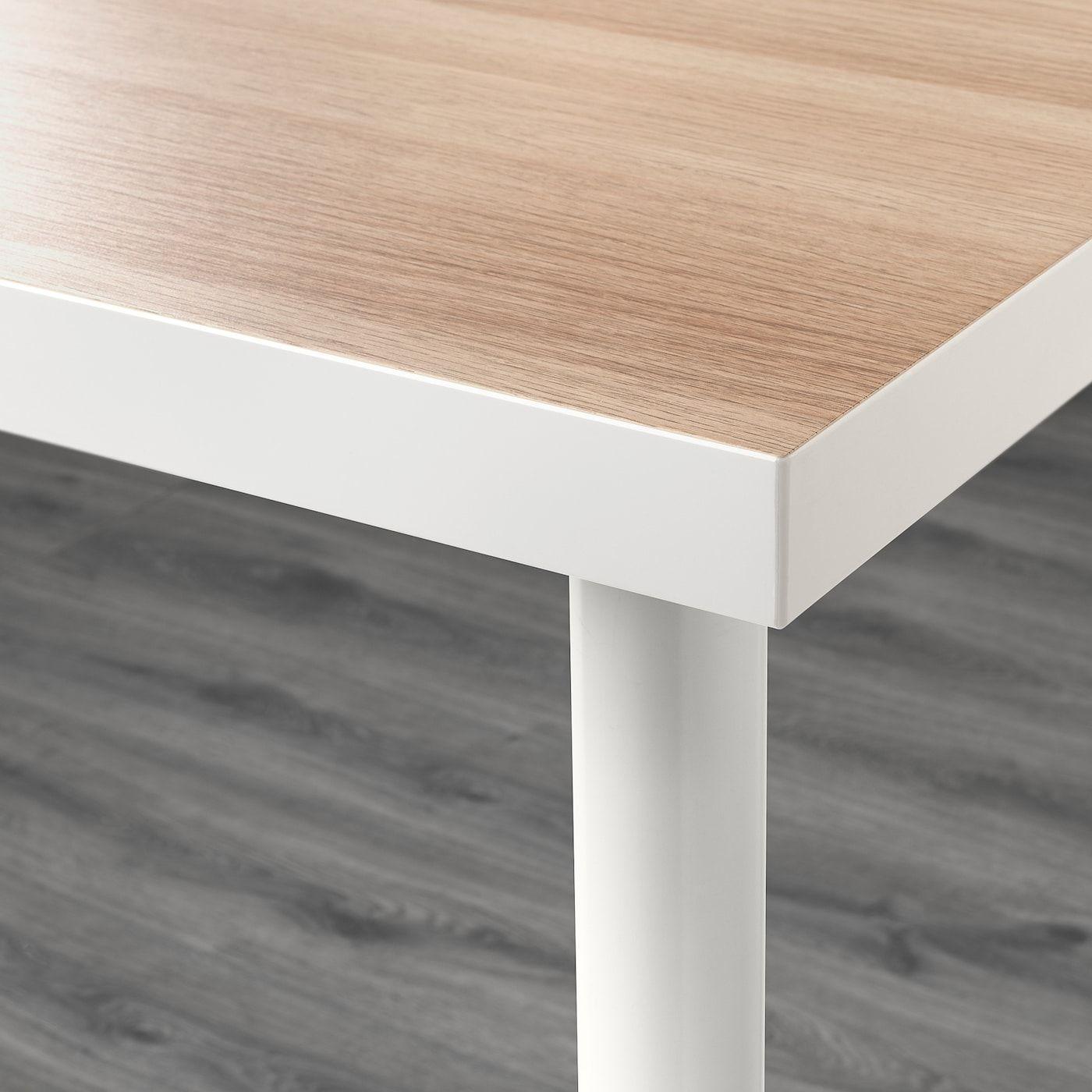 Linnmon Adils Tisch Weiss Eicheneff Wlas Tisch Weiss Tisch Und