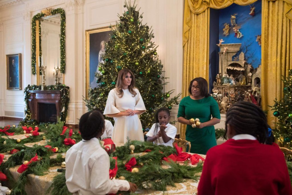 For her first christmas in the white house first lady melania trump unveiled this years theme time honored traditions which she created as a nod to