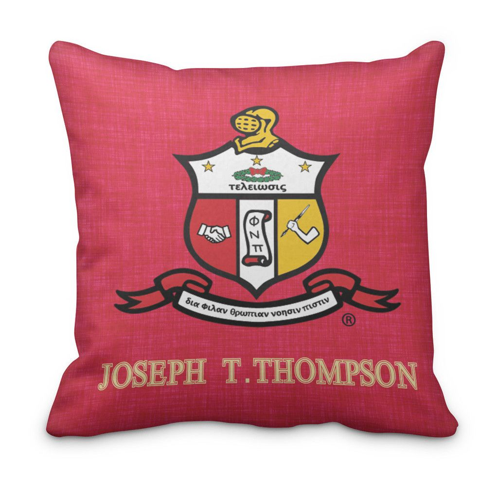 Kappa Alpha Psi Personalized Fraternity Pillow - Double Sided ...