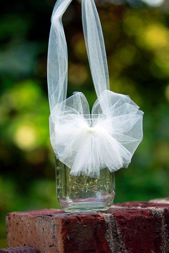 Wedding Mason Jars Hanging Mason Jars White Wedding by ...