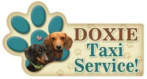Doxie Taxi Magnet Pair Dachshund Rescue Of North America