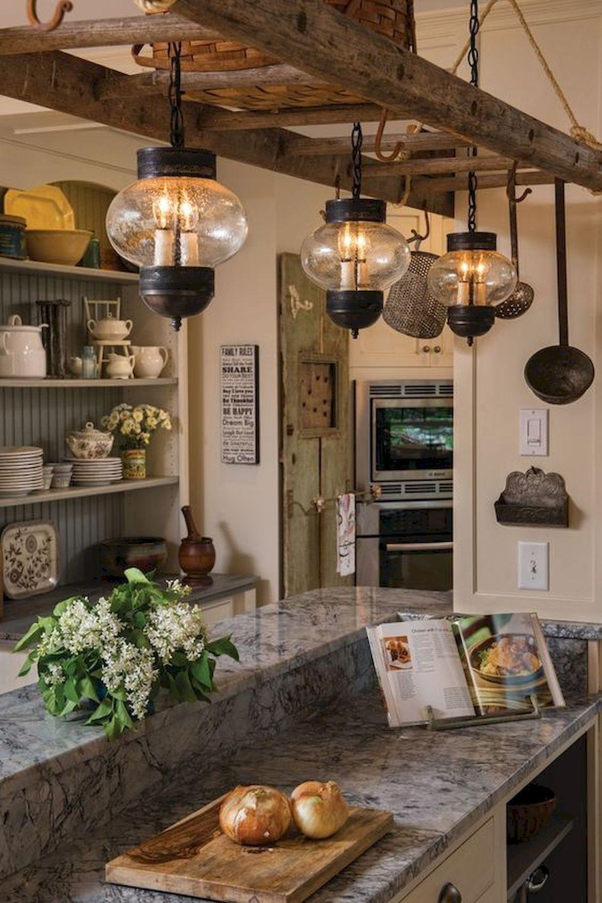 20 the best farmhouse ladder chandelier design ideas 16
