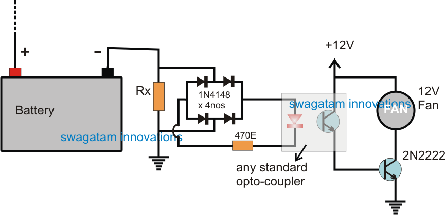 The post explains a simple automatic inverter fan switch ON circuit ...