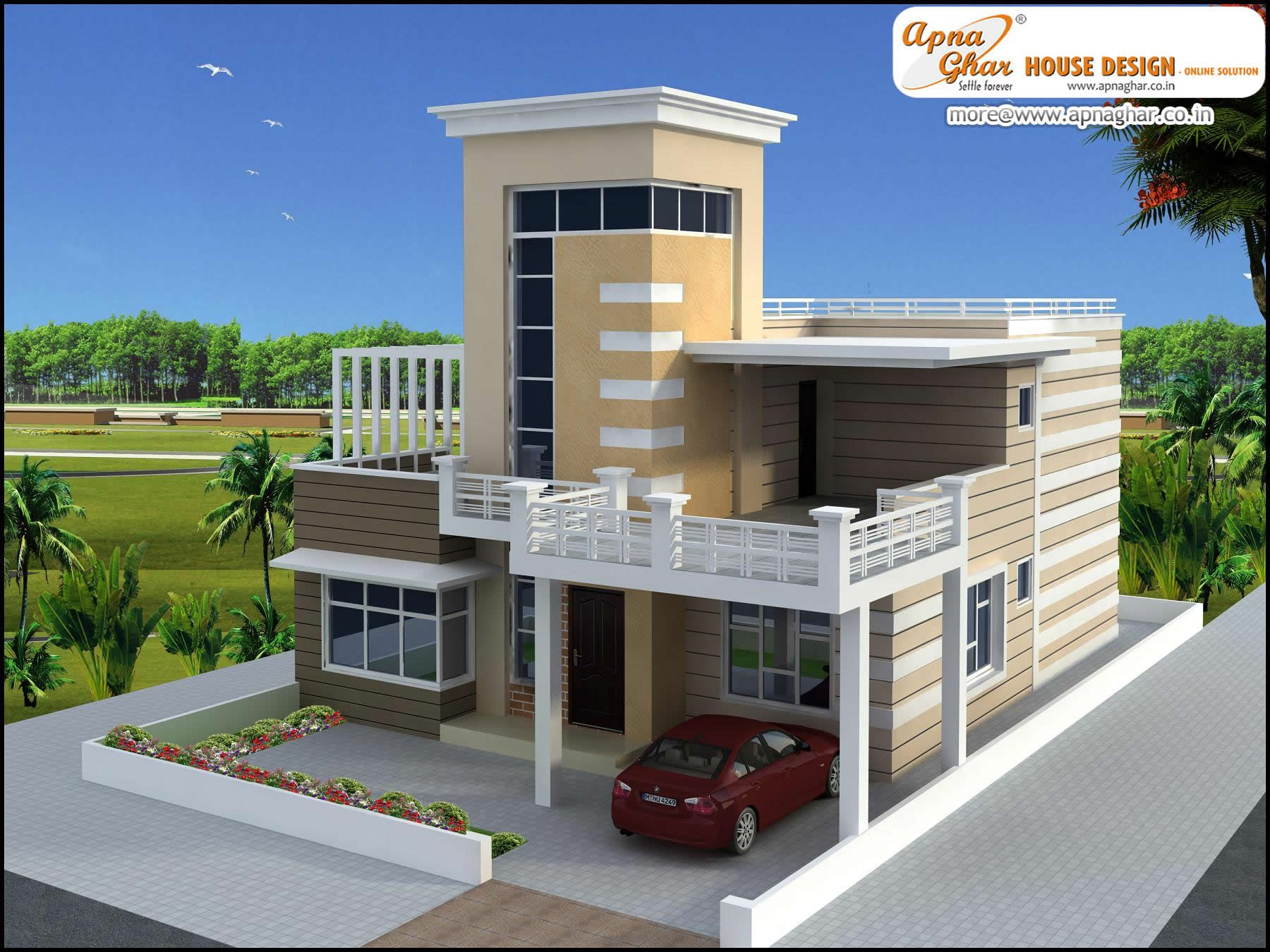 Luxury duplex 2 floors house design area 252m2 21m x for Two floor house design
