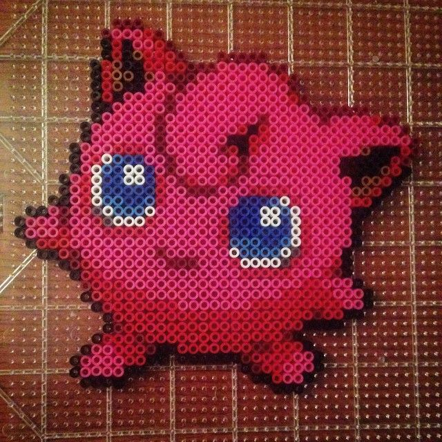 JigglyPuff Pokemon perler beads by Under The Iron Pixels - Pattern ...