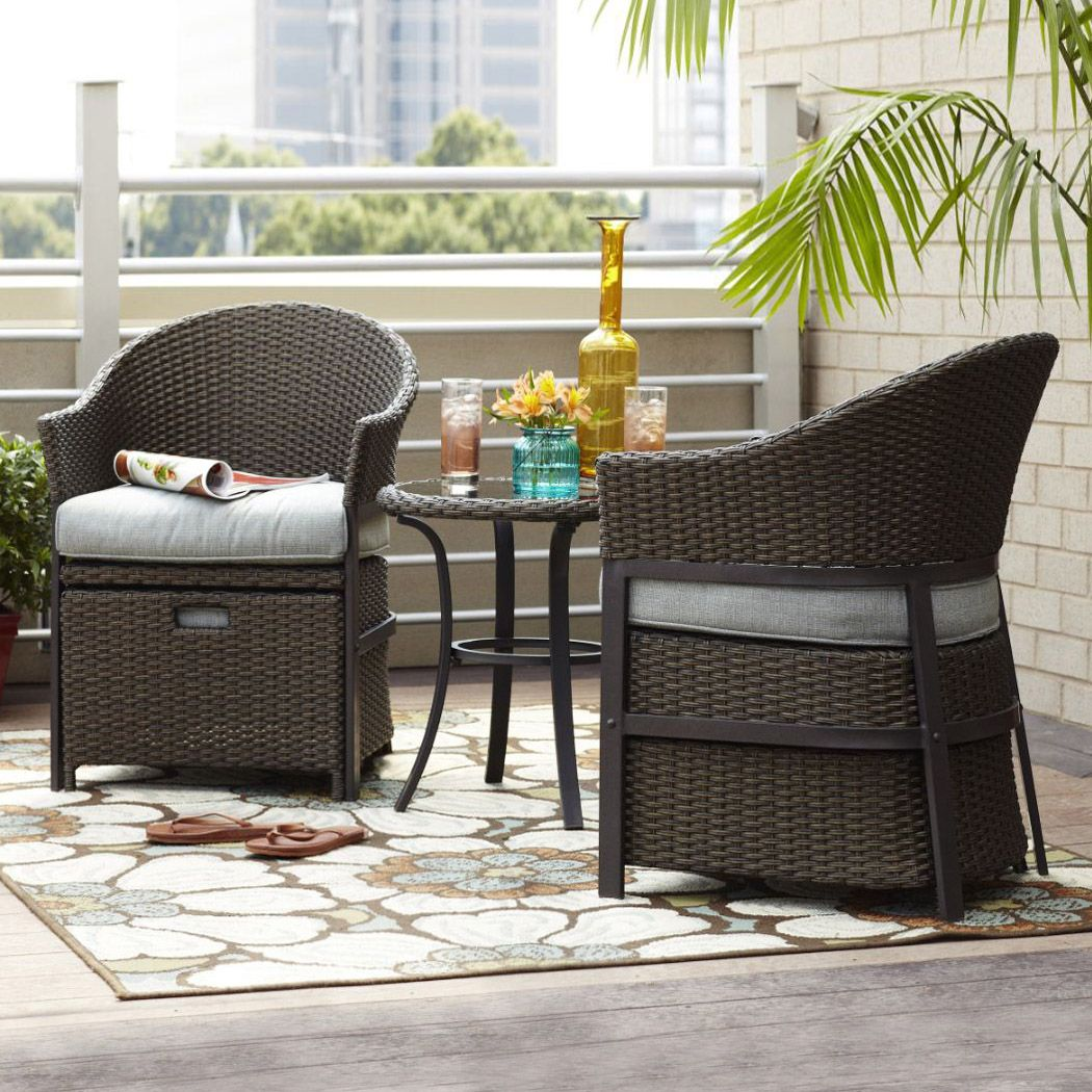 Garden Treasures South Point 5 Piece Outdoor Conversation Set At Lowe S Canada