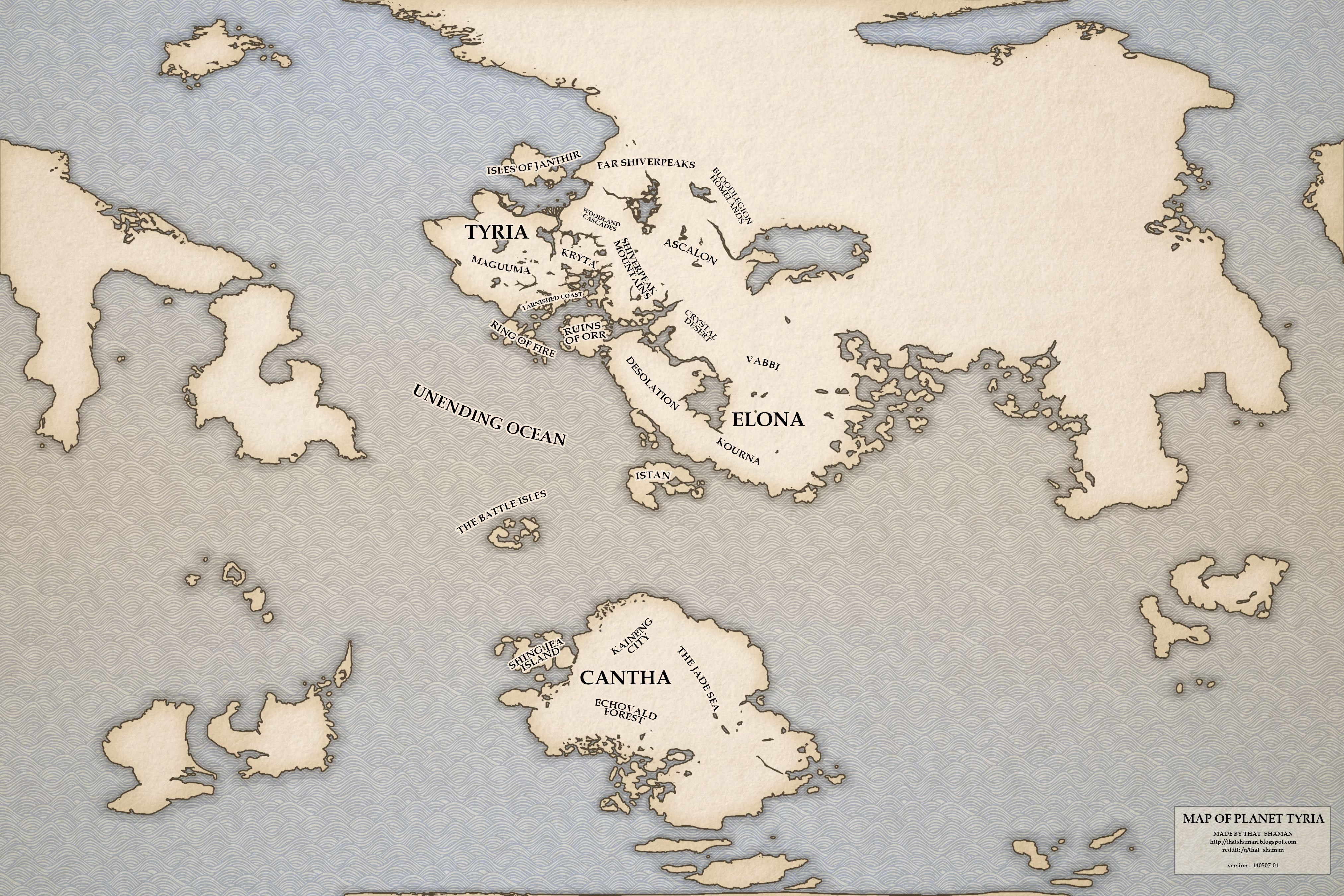Map of Tyria - Guild Wars 2 | Gaming | Guild wars 2, Guild