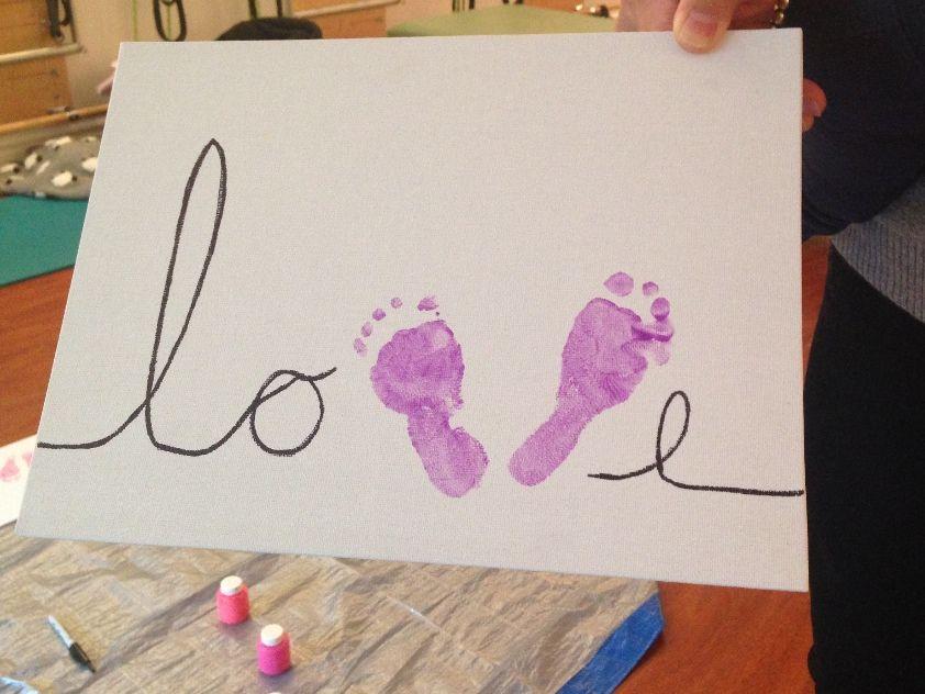 Baby Footprint Craft Footprint Art Baby Handprint Crafts