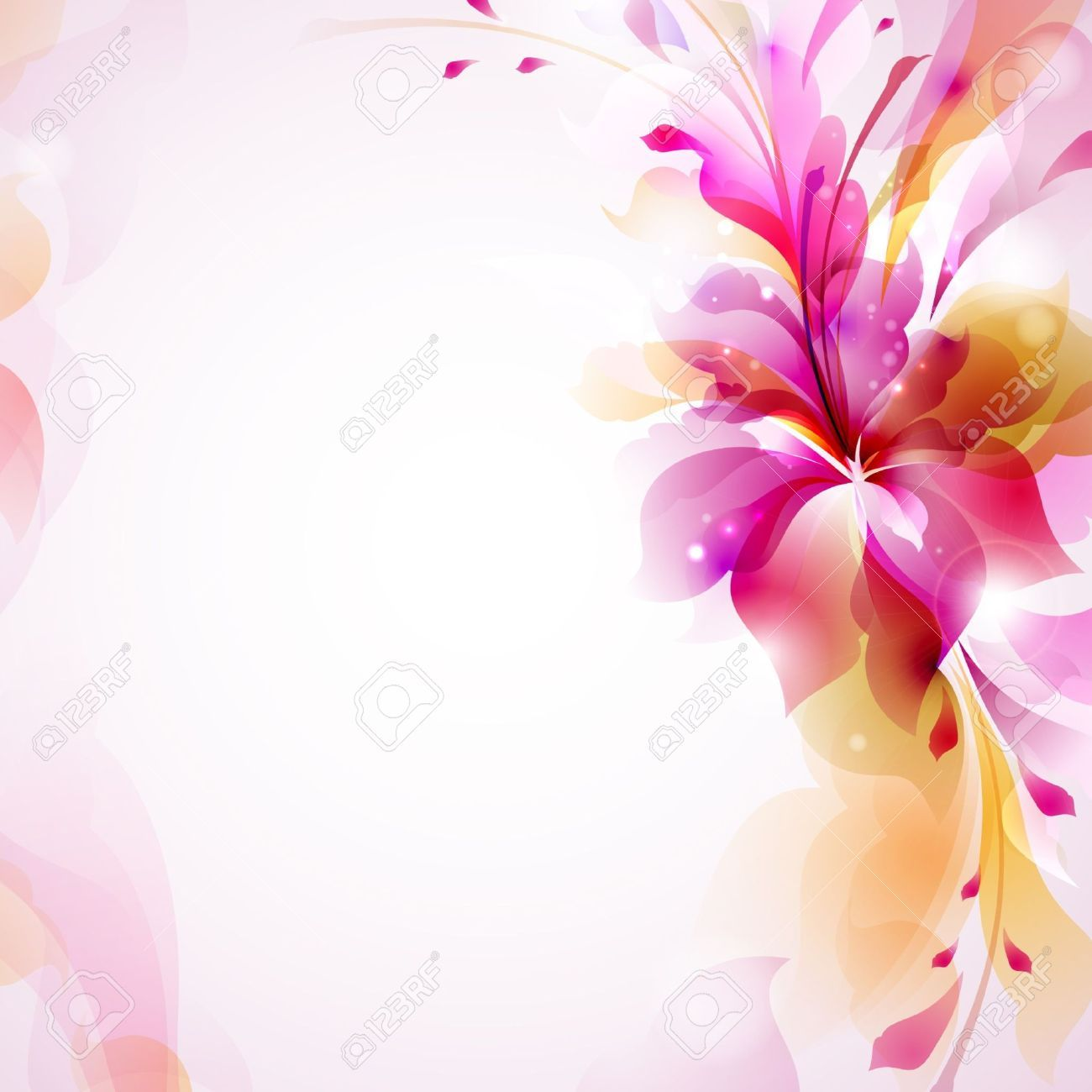 14311390-Tender-background-with-abstract-flower--Stock