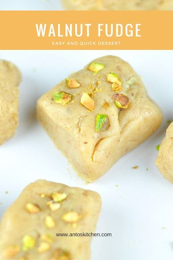Walnut Fudge With Condensed Milk Is A Quick And Easy Dessert In Less Than 30 Minutes It Tastes Soft And Slight Walnut Fudge Recipes Using Condensed Milk Fudge