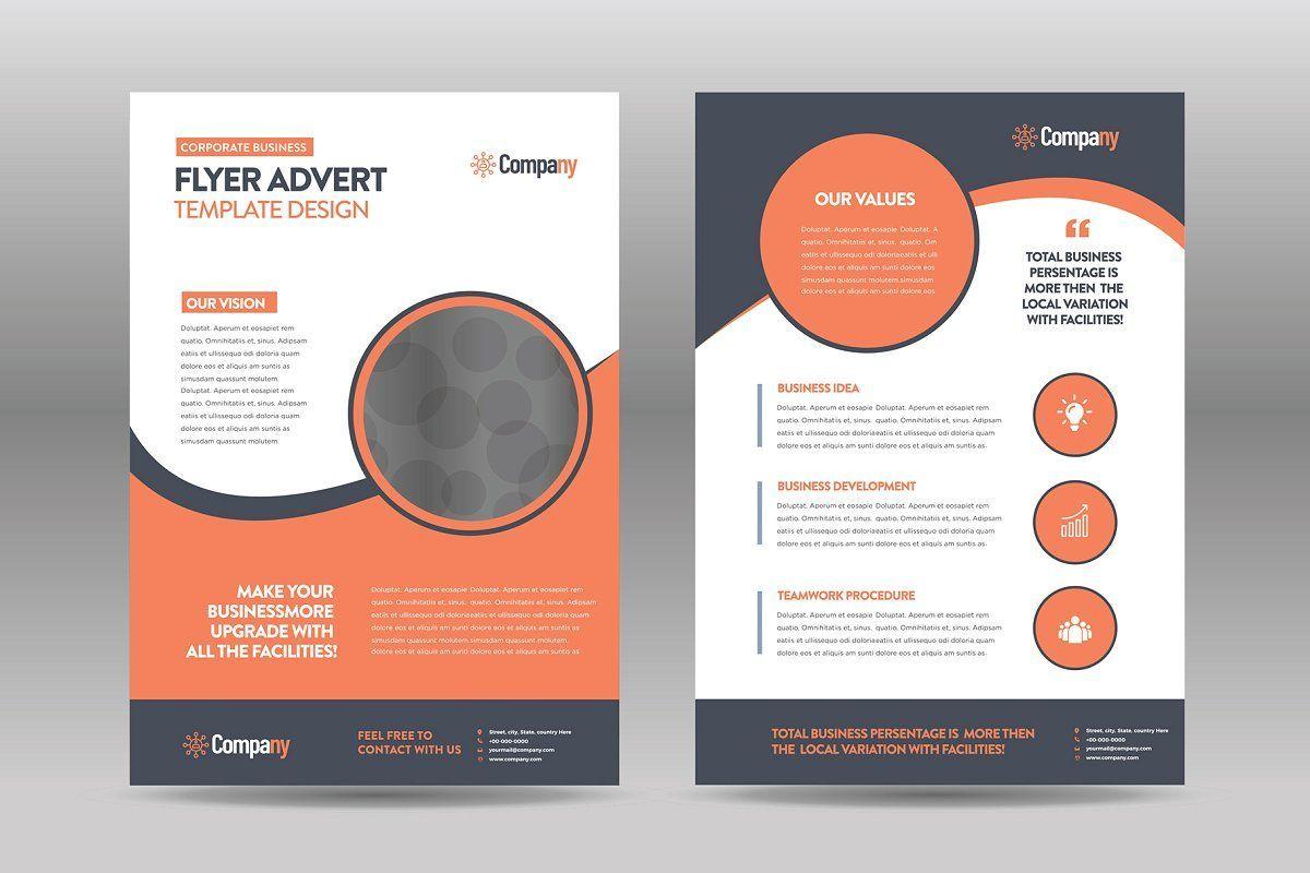 Ad Business Flyer Advert Design by Layout Design Ltd on Creative Market Corpor