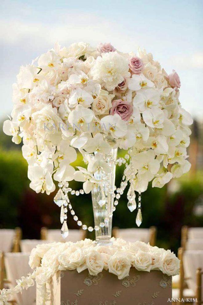 Wedding ceremony flowers chandelier centerpiece centerpieces and wedding ceremony flowers belle the magazine junglespirit Image collections