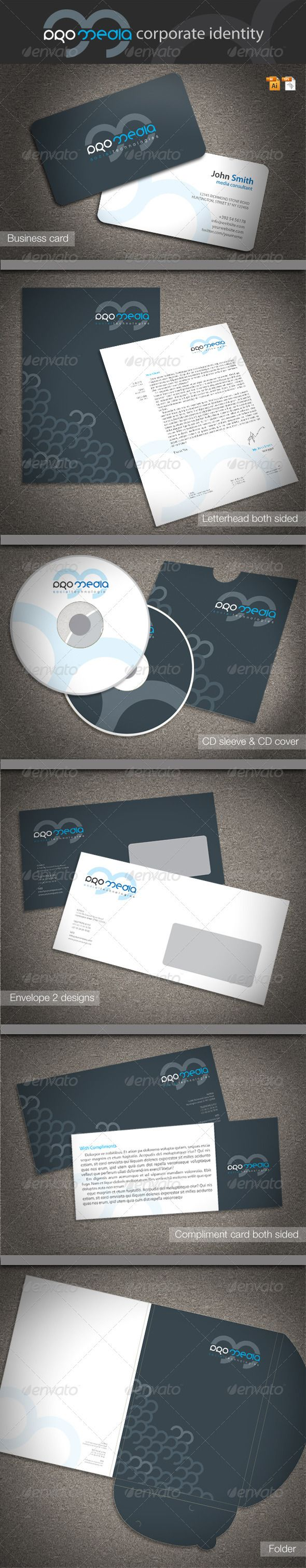 Pro Media Corporate Identity  Corporate Identity Stationery