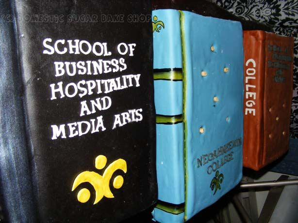 Domestic Sugar: Because Domestic Life is SWEET!: Stacked Book Cake Tutorial