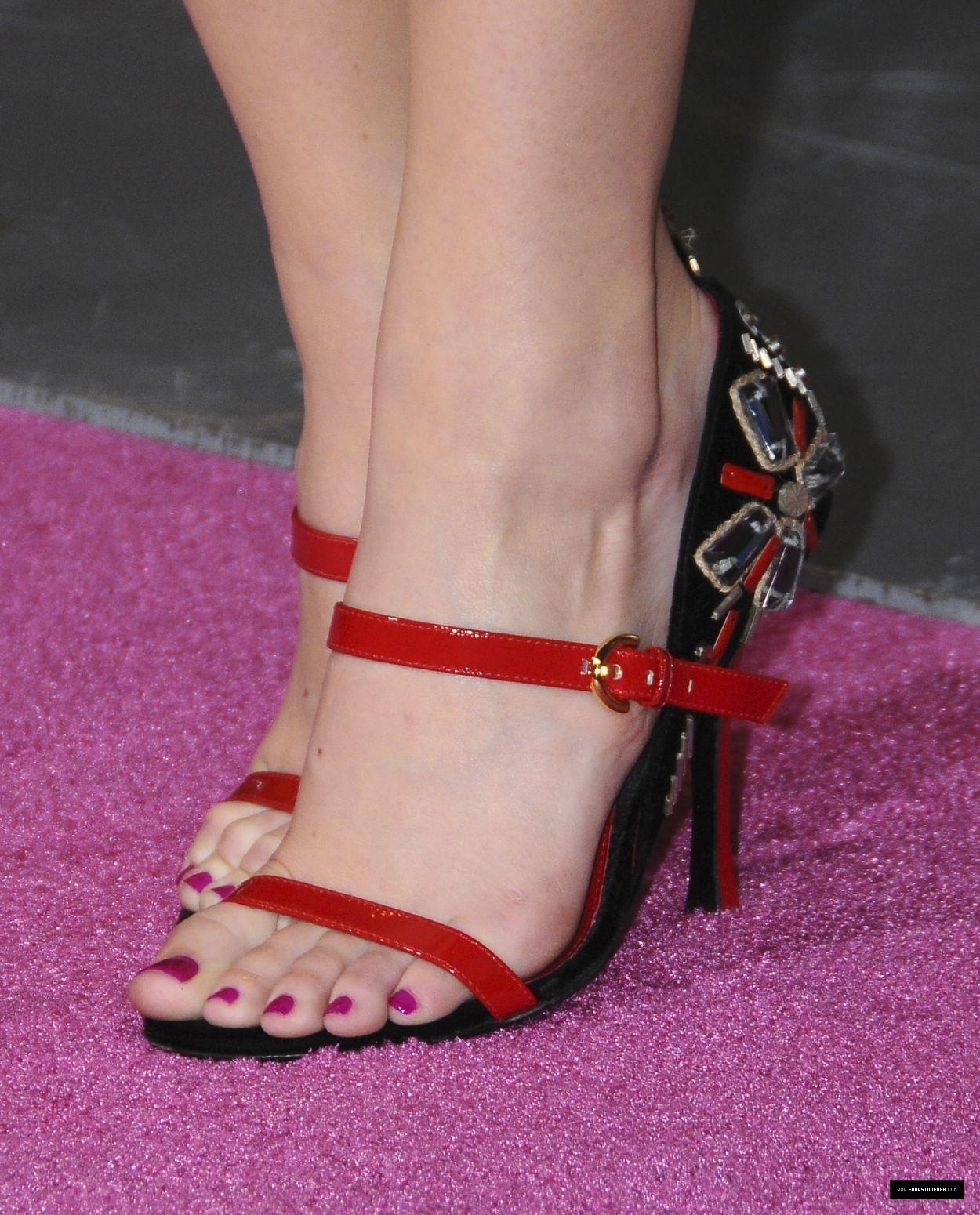 Emma Stone Pantyhose Feet - Open Heels