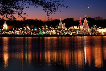 greetings by gregg Eckhardt .. Marble Falls , Tx Walk of Lights ...