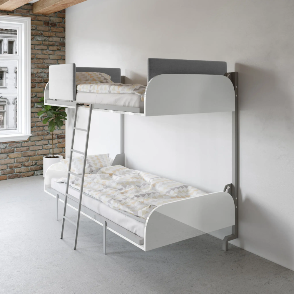 Hover Compact Fold Away Wall Bunk Beds In 2020 Bunk Beds Bunk Bed Designs Bunk Bed Ladder