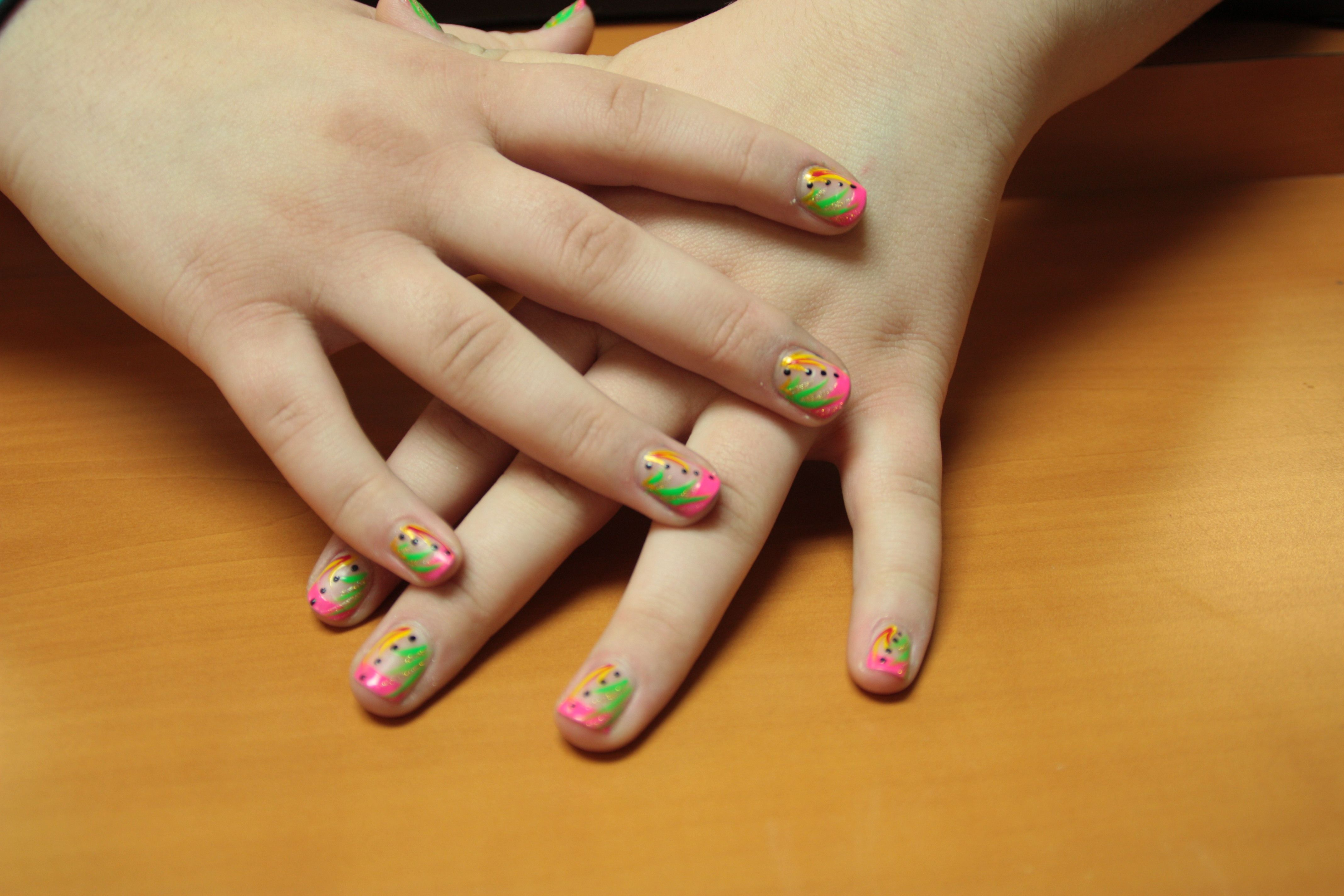 Amazing nail design rainbow for kids httpnailarting easy and cute nail art for kids to do at home simple dotted nail art for kidscartoon nail art for kidsfloral kids nail artchristmas nails prinsesfo Image collections