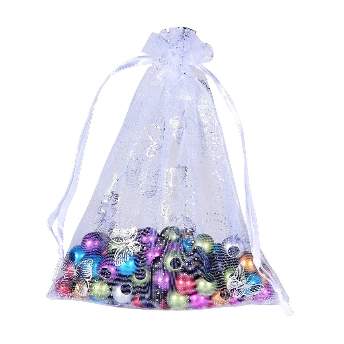 Housweety Organza Drawstring Pouches Jewelry Party Wedding Favor ...