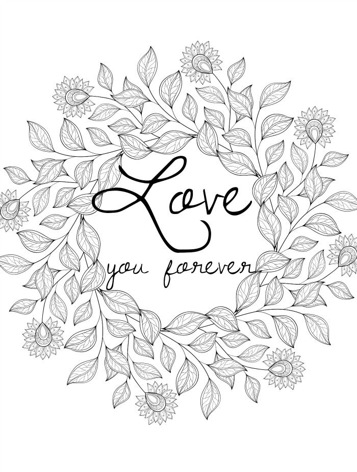 free downloadable coloring pages for adults for valentines ...