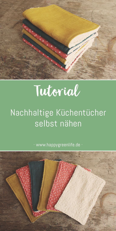 Nähanleitung: Nachhaltige Küchentücher selbst nähen - Kreativlabor Berlin