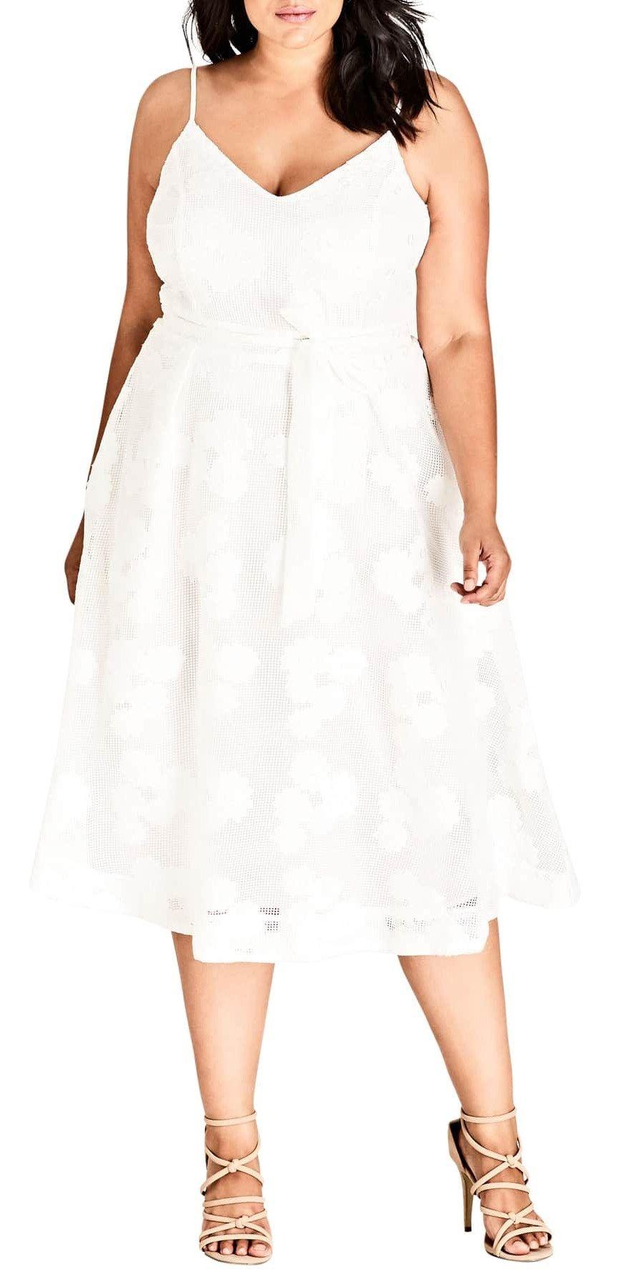 674ef4439f 20 Plus Size Rehearsal Dinner Dresses - Plus Size White Dress for  Bachelorette Party - Alexa Webb - alexawebb.com  plussize  alexawebb