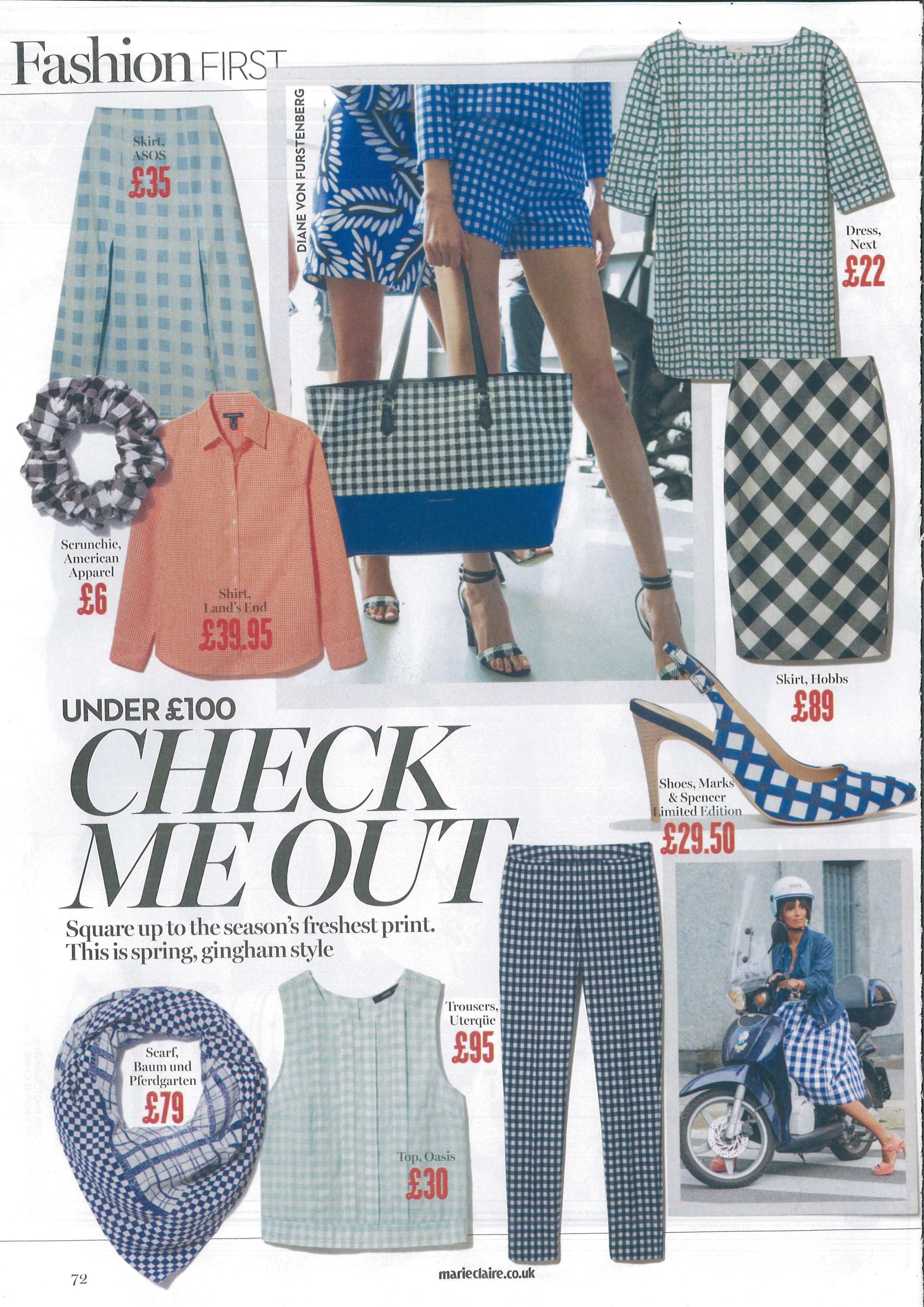 See our Women's Patterned Supima® Non Iron Shirt (Muted orange gingham) featured in Marie Claire!