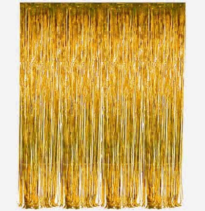 Gold Fringe Curtain The House Of Bachelorette Gold