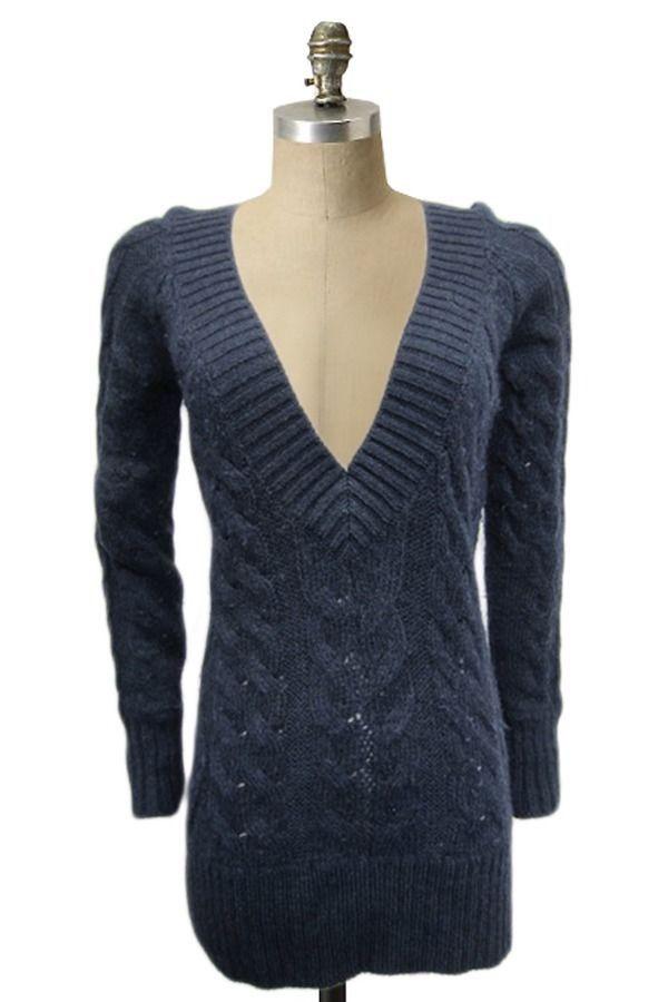 VINCE XS Knitted Sweater Nordstrom Superfine Alpaca Wool Blend Chunky V neck   VINCE  VNeck 4cadd8c79
