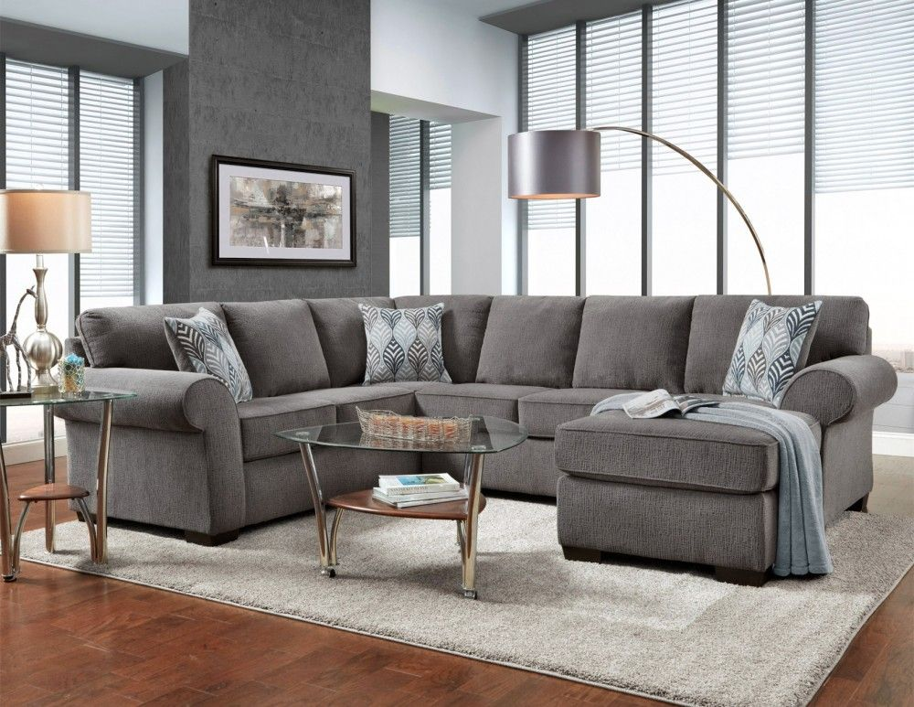 CHARISMA SMOKE 3 PC SECTIONAL Furniture, Living room