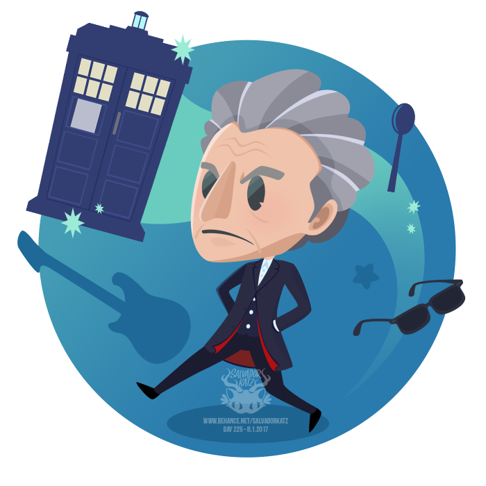 Day 225 The Twelfth Doctor By Salvadorkatz Deviantart Com On Deviantart Twelfth Doctor Doctor Doctor Who Art