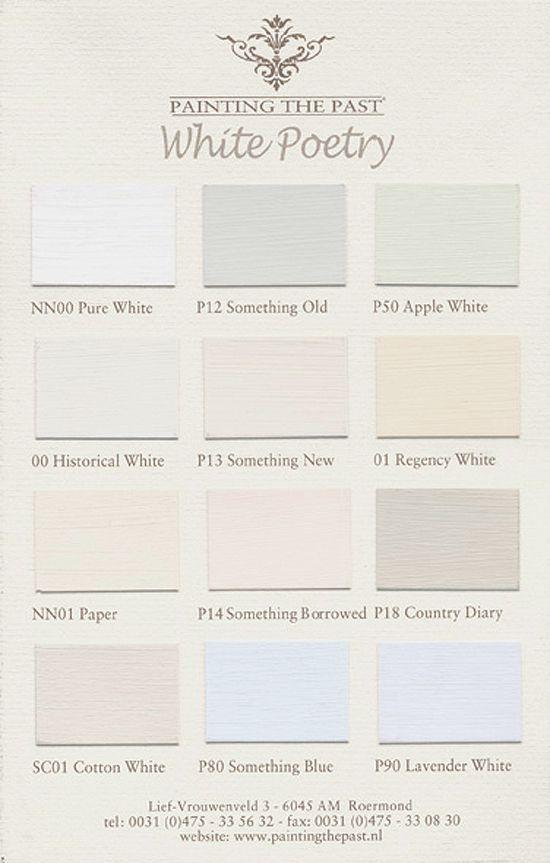 Betere kleurkaart White Poetry van Painting the Past. Deze verf is ET-85