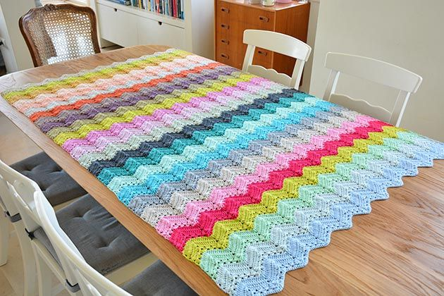 The four seasons chevron blanket | crochet shawl | Pinterest | Decken