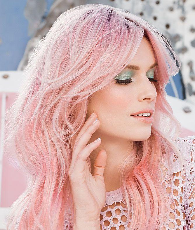 Spring 2018 Hair Trend Iced Pastel Pink hair, Hair