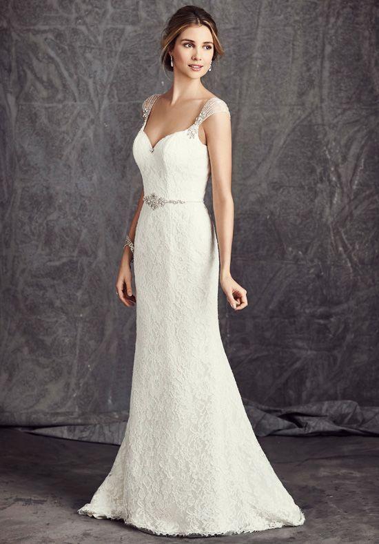 0b0687a0463a Kenneth Winston  Ella Rosa Collection BE282 Sheath Wedding Dress ...